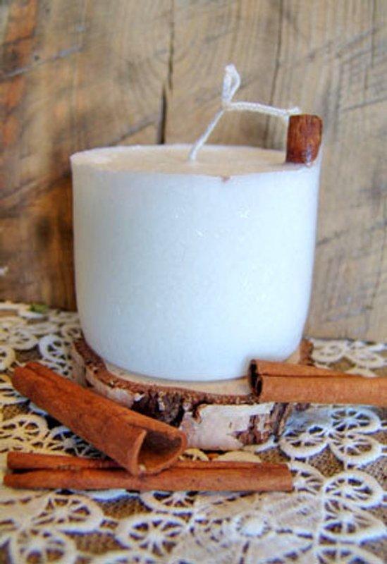 Cinnamon eco-candle